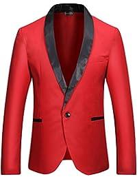 Sportides Hombre Fashion Slim Fit Casual One Button Blazer Jacket Suits JZA127