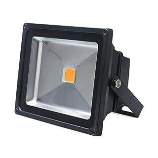 Auralum® Energy Saving 30W IP65 LED Waterproof Floodlight High Power Warm White(3000K) Outdoor Spotlight Black