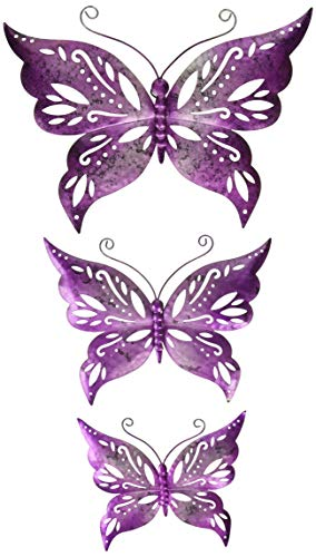 Butterfly Capris (Regal Art & Gift Capri Butterfly Wall Decor S/3-Purple Wandschmuck, violett)
