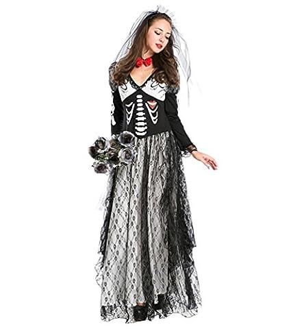 Zombie Halloween Costumes Filles - Anguang Halloween Costume de la Mariée Zombie