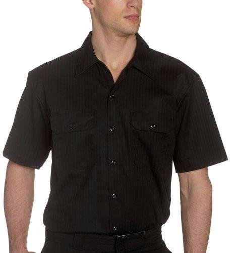 Dickies - WS515 Twill à rayures Chemise de travail Black