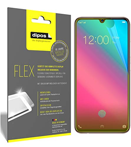 dipos I 3X Schutzfolie 100% passend für Vivo V11 Plus Folie (Vollständige Bildschirmabdeckung) Bildschirmschutzfolie