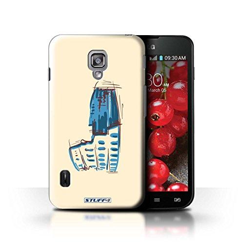 Kobalt® Imprimé Etui / Coque pour LG Optimus L7 II Dual / La porte de Torii/Japon conception / Série Monuments Colisée / Rome
