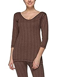 Vimal Premium Cotton Blended Brown Thermal Top For Women