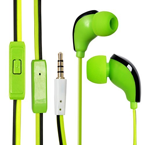 ECell Premium [GREEN] Hifi In-ear Music Headphones Earphones With Mic Stereo Sound Hands-free For Sony Xperia T2 Ultra  available at amazon for Rs.222