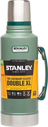 Stanley Legendary Classic Vakuum-Thermoskanne, 1.9 Liter, Hammertone Green, 18/8 Stainless Edelstahl, Integrierter Thermobecher, Doppelwandige Isolierung Isolierflasche Isolierkanne Kaffeekanne -