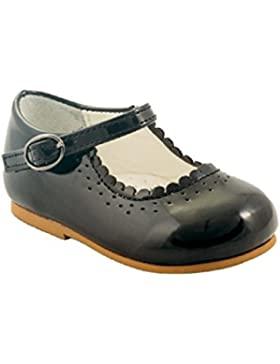 Sevva Primeros zapatos para caminar para niña bebé, antideslizantes, diseño español, estilo Emma, colores blanco...