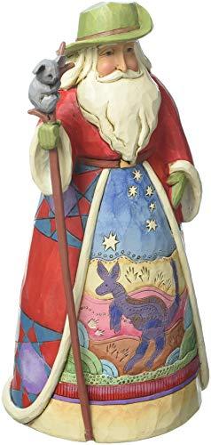 Jim Shore Weihnachtsmannfigur aus Enesco (englischsprachig), 17 cm Australischer Weihnachtsmann 7-Inch red, White and Green
