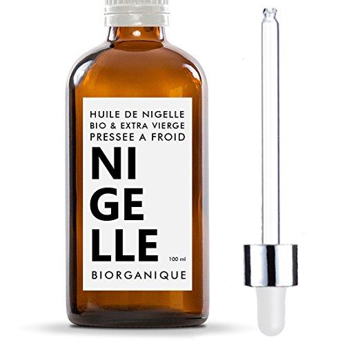 Huile de Nigelle 100% Bio, Pure et Naturelle - 100 ml - Soin pour Cheveux, Cuir...