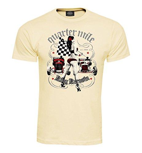 King Kerosin T-Shirt Quarter Mile Cream Cream