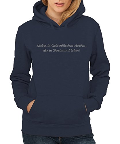 -- Lieber in Gelsenkirchen sterben -- Girls Hoody Navy, Größe XXL - Sterben Hoody