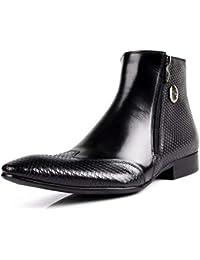 GLSHI Herren Stiefeletten British Business Trend Spitz Stiefel Kurze Röhre… b706f25175