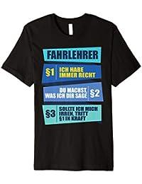 Herren Fahrlehrer Geschenk Fahrschule Sprüche T-Shirt