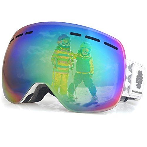 Snowledge Skibrille - Frameless, austauschbare Double Sphärische Linse mit Anti-Kratzer und Anti-Nebel, Ski / Snowboard-Goggles für Männer Frauen kinder-100% UV-Schutz