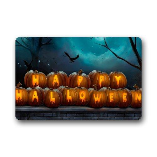 Fußmatte Happy Halloween Halloween-Kürbislaterne Night Art Fußmatte/Front Tür/Bad-Teppich Mats Fußmatte 59,9x 39,9cm