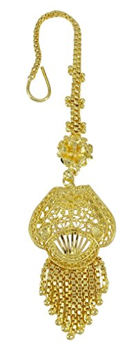 Banithani Traditionelle indische Goldton Designer Maang Tikka Bollywood Stirn Schmuck