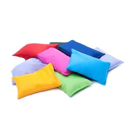 Assorted Colours Water Resistant Fabric Garden Game Sports PE Sensory Juggling Bean Bags 4 Pack