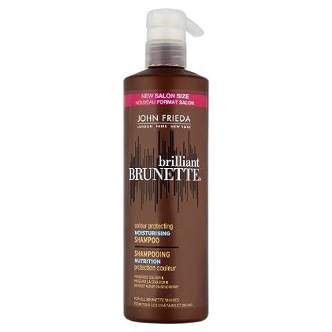 JOHN FRIEDA Brilliant Brunette Shampooing Nutrition Protection Couleur Châtains et Bruns 500 ml Modèle aléatoire