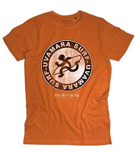 7a6e7d19eeba9 3stylercollection vintage T-Shirt Homme Logo Uvamara Surf Antique - Surf  Voltri - Orange Vintage