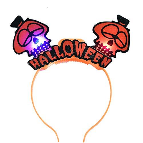 wsjwj Nachtlichter & Schlummerleuchten Glühende Kopfschmuck Halloween Kürbis -