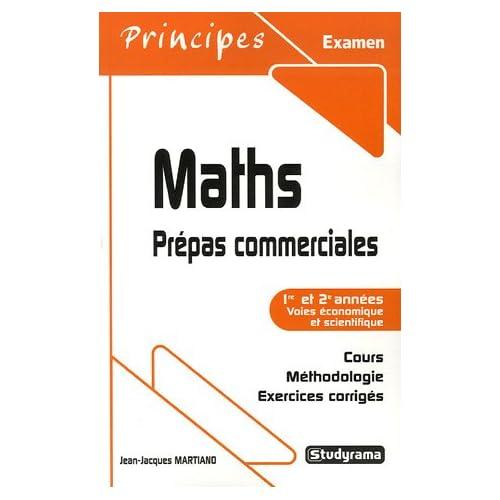Maths : Prépas commerciales