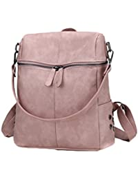 AOWEI EC Mujer mochila de cuero mochilas de piel bolsas tipo mochila casual impermeable mochila bandolera