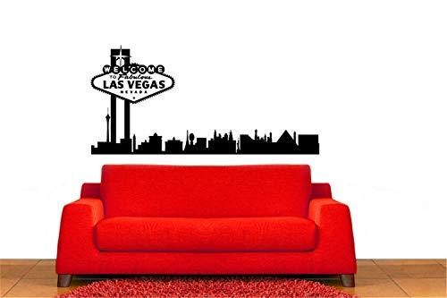 wandaufkleber schlafzimmer wandaufkleber sterne Skyline-Wandaufkleber Willkommen in Las Vegas Sign und Skyline für Wohnzimmer Schlafzimmer TV Sofa Hintergrund