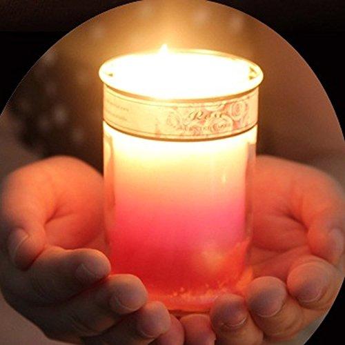 Romántico Vela aromaterapia vela aromática matrimonio aniversario Sweet cena vela taza