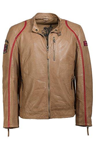 Angesagte trendige Lederjacke beige Trendmodell vom Lifestylelabel Gipsy! Toffee
