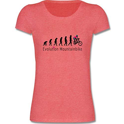 Evolution Kind - Mountainbike Evolution - 110-116 (5-6 Jahre) - Rot meliert - F288K - Mädchen T-Shirt -