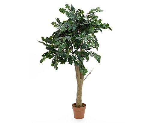 Kunstpflanzen Eichenbaum 170cm hoch – Kunstbaum künstlicher Waldbaum Kunstbäume