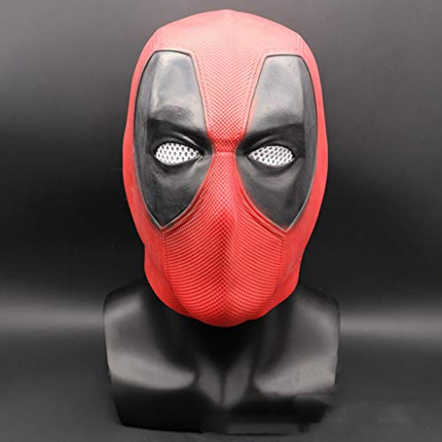 Red Kinder Kostüm Hulk - QWEASZER Deadpool Maske Männer Kostüm, Film DP Cosplay Kostüm Replik Maske Kopf Cosplay, Halloween Maske Kopf (Deadpool),Red-OneSize