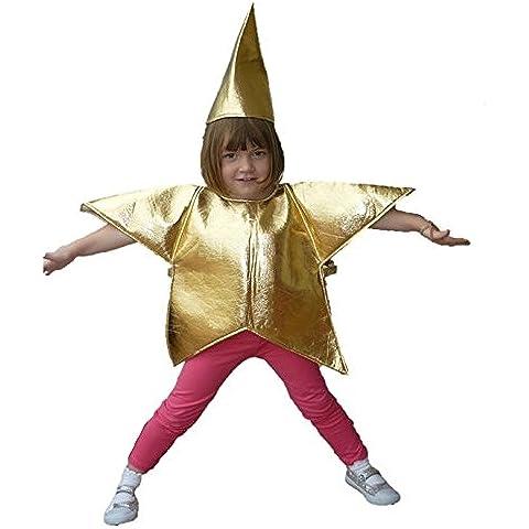 STAR costume in oro: Bambini Taglia 3–4anni: Piccolo Presepe