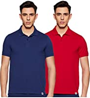 Amazon Brand - Symbol Men's Solid Regular fit Polo (Pack o