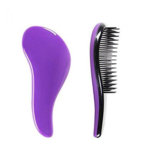 Gemini_mall - spazzola districante per capelli per donne, ragazze, uomini e ragazzi, basta farla scorrere tra i capelli per sciogliere i nodi, comoda su capelli asciutti e bagnati