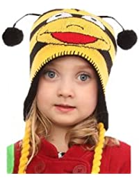 Childrens Fun Animal Peru Hats (Yellow Bee Design)