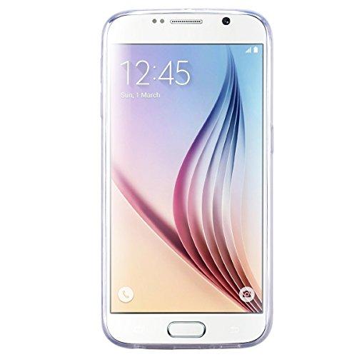 Custodia Samsung Galaxy J3 (2016 Model), HB-Int 3 in 1 Ultra Slim Custodia Crystal Chiaro Shell Custodia Trasparente Morbida Case Flessibile TPU Gel Caso Ultra Sottile Leggera Copertura Anti Graffi Si Farfalle