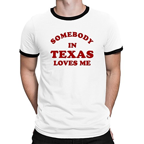 Teeburon Somebody IN Texas Loves ME Ringer T-Shirt -