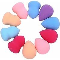 Tefamore 10pcs Pro Esponjas Belleza Flawless Maquillaje Blender Foundation Puff Multi forma
