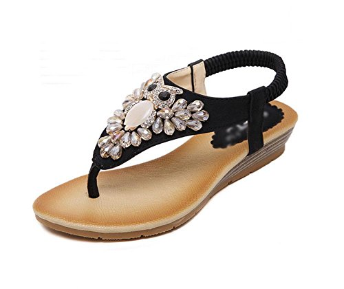 Sandalen Frauen Diamant wulstige Person Wort Prise Schuhe wilde Schuhe B