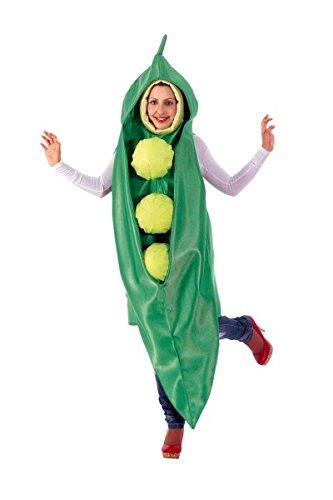 Erbsenkostüm Ganzkörperkostüm Erbse Gemüsenkostüm (Erwachsene Erbsen Kostüme)