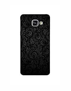 Samsung Galaxy A7 (2016) Mobile Cover - Hard Case Printed Back Cover - black abstract theme designer cover by SkinPrints
