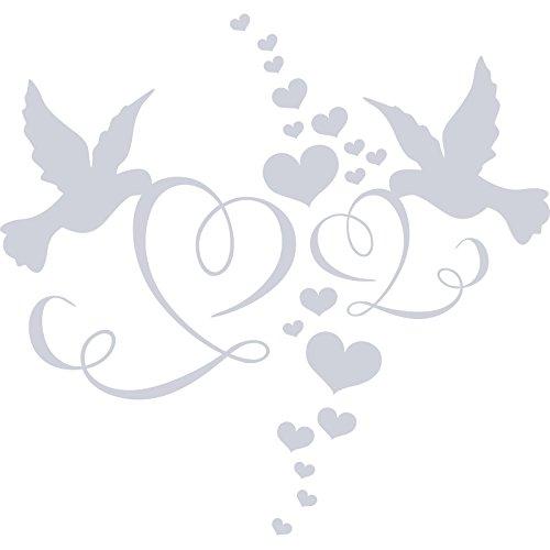 Fancy Lovely mariage Colombes Love Hearts (60cm x 60cm) Choisir votre couleur 18couleurs en stock Chambre Enfant, Salle de Bain, chambre enfants Stickers, vinyle de voiture, Windows et mur sticker, mur d'art de Windows, Stickers, ornement vinyle autocollant cm