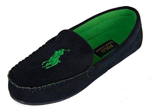 babbuccia Pantofola arti uomo mocassino Navy POLO homewear ciabatta 991689 LAUREN RALPH casa zrOI5zxq