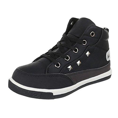 Chaussures pour enfants, F de 113, loisirs chaussures sneakers sportive Noir - Noir