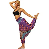 Pantalones de yoga de bolsillo de cintura alta. Ej Pantalones de yoga Pantalones de Bohemia Pantalones Harem de Pilates adecuados para mujeres Fitness Home ( Color : Ycl002 , tamaño : Average code )