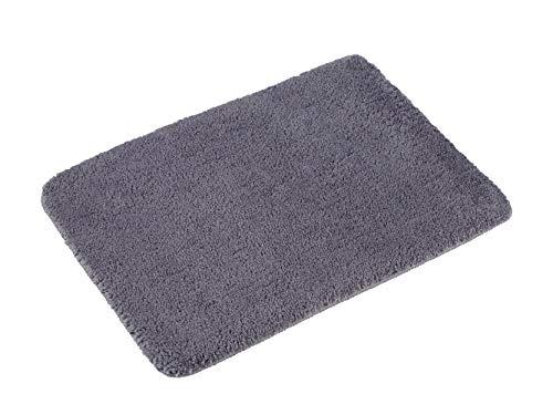 PANA Flauschiger Badvorleger in versch. Farben und Größen | Badteppich aus weichen Mikrofasern - rutschfest & waschbar | Duschvorleger 50 x 80 cm