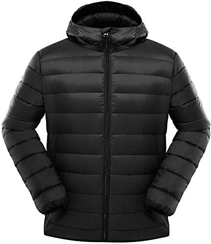 Valuker Herren Daunenjacke mit 90% Daunen Jacke Mit Kapuze Winter Jacke Ultra leicht