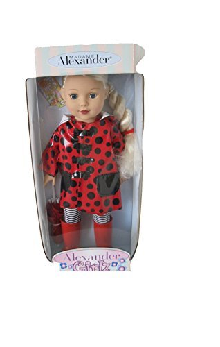 Alexander Girlz Rainy Day Doll Set - 18 Caucasian Doll with Blonde Hair & Red Raincoat & Umbrella by Alexander Doll Company - Madame Alexander (Alexander Doll Madame Company)