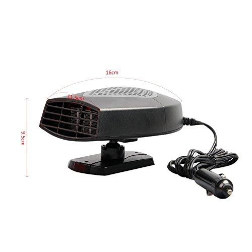 XGZ - Calefactor portátil para coche de 12V - Ventilador que quita rápidamente la nieve y la escarcha del vehículo